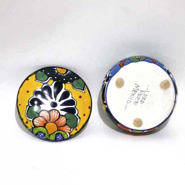 mexican pottery jewelry talavera majolica yellow Artesano