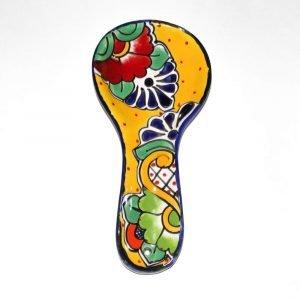 Porta cucharas de Mayolica Talavera Artesano Amarillo