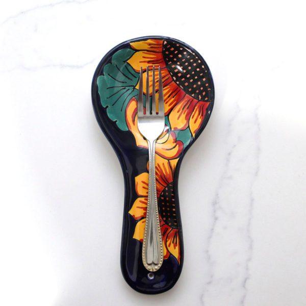 Spoon Rest Majolica Talavera Artesano Sunflowers