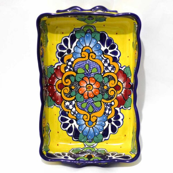 talavera yellow multi tray