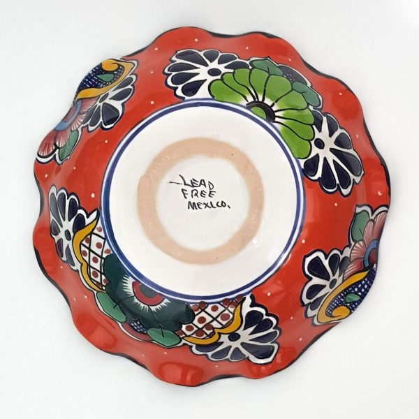 frutero naranja de talavera - fruit bowl orange