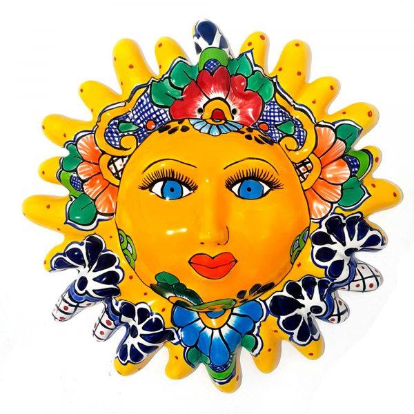 sol amarillo de talavera mexicana