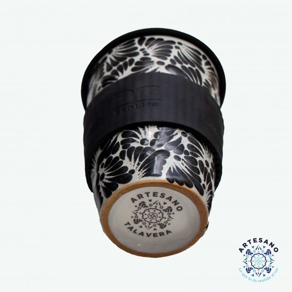 talavera pottery tumbler black