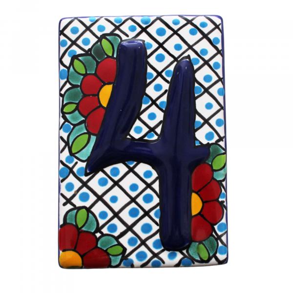 talavera numbers tiles 4