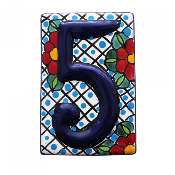 talavera numbers tiles 5